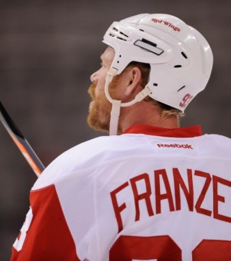 Johan Franzen is on pace to have a great season with 22 points through 27 games. (Jerome Miron-USA TODAY Sports)
