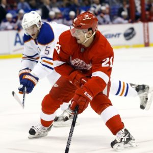 Tomas Tatar of the Detroit Red Wings