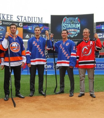 The NJ Devils & NY Rangers will play in the first ever hockey game in Yankee Stadium. (Ed Mulholland-USA TODAY Sports)