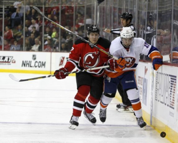 Damien Brunner has fit in perfectly with the New Jersey Devils so far. (Noah K. Murray-USA TODAY Sports)