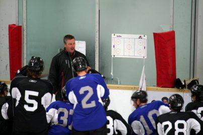 Patrick Roy at Avalanche training camp (Kevin Goff/THW)