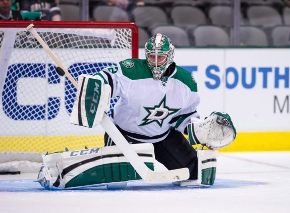 Kari Lehtonen and the Dallas Stars should continue their recent surge.  (Jerome Miron-USA TODAY Sports)