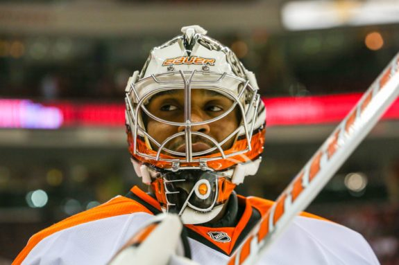 After allowing a third period power play goal, Ray Emery's team in front of him went on tilt.