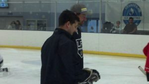 Justin Williams at the 2013 L.A. Kings Rink Tour (Mario Boucher Photo)