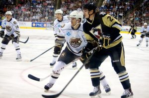 The Hershey Bears faced the W-B/Scranton Penguins for the second night in a row on Saturday. (Annie Erling Gofus/The Hockey Writers)