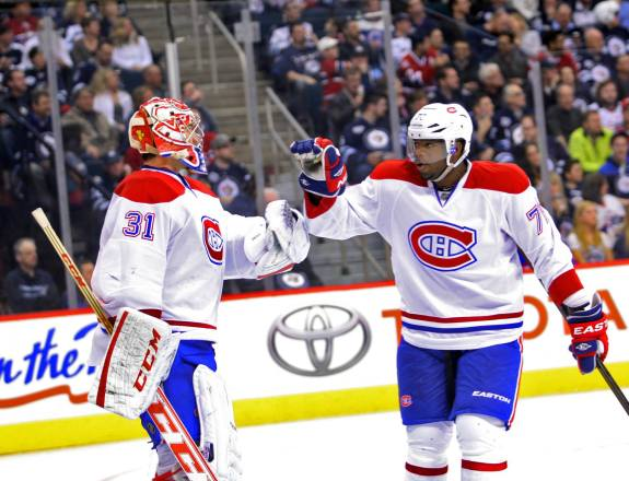 With Carey Price & PK Subban the Habs are primed for a run at the 2014 Stanley Cup. (Bruce Fedyck-USA TODAY Sports)