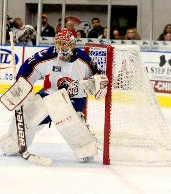 Brad Thiessen stopped 36 shots en route to the win Photo Credit: (John Wright/Norfolk Admirals)