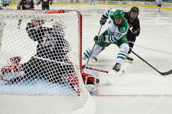 SCSU goalie Ryan Faragher  (Eric Classen/UND Athletics)