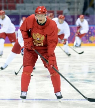 Pavel Datsyukis fired up in Sochi (Jayne Kamin-Oncea-USA TODAY Sports)
