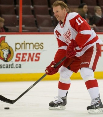 Whether or not Daniel Alfredsson returns, the Wings have plenty of options up front (Marc DesRosiers-USA TODAY Sports)