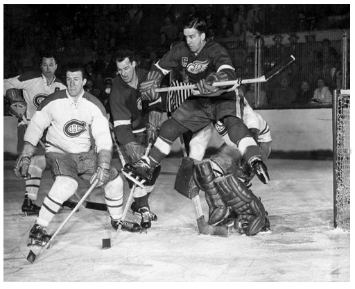 Ted Lindsay of the Detroit Red Wings.
