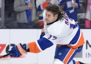Along with Cal Cluterbuck and Casey Cizikas, Matt Martin is part of a formidable fourth line. (Jayne Kamin-Oncea-USA TODAY Sports)