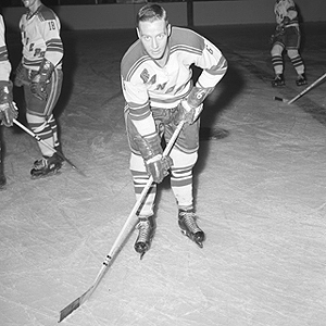 Pat Hannigan, shown here with the Rangers, was the star for Buffalo vs the Reds.