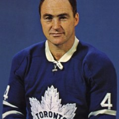 Red Kelly fired three goals for the Leafs.