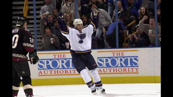 Demitra ranks 5th all time in points for the Blues franchise.