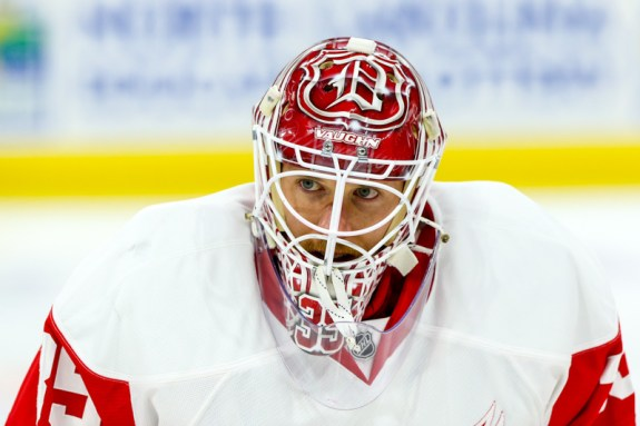 Jimmy Howard of the Detroit Red Wings.