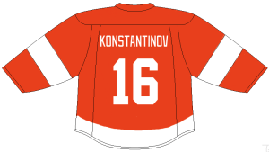 Vladimir Konstantinov of the Detroit Red Wings.