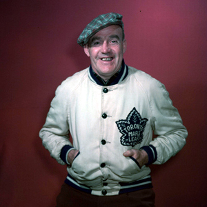 King Clancy handled the bench for Leafs last night.