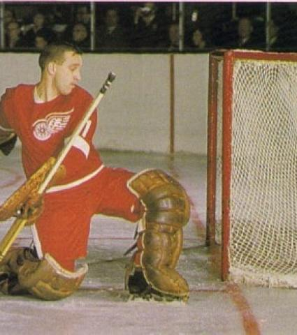 Roger Crozier was a legendary left-handed NHL goalie for the Red Wings.