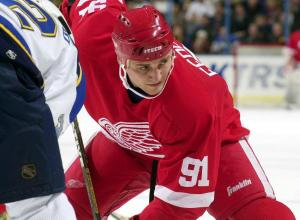 Sergei Fedorov of the Detroit Red Wings.