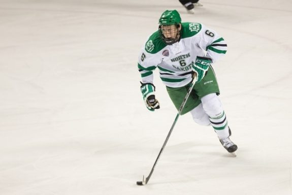 UND Defenseman Paul LaDue (Peter Bottini, UND Athletics)