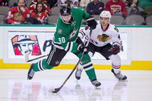 Stars' center Jason Spezza leads the club in faceoff win percentage. (Jerome Miron-USA TODAY Sports)