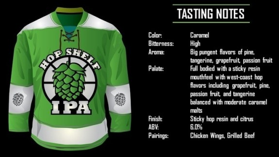 Hop Shelf IPA has bold undertones, but finished smooth.