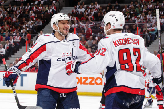 Alex Ovechkin #8 of the Washington Capitals