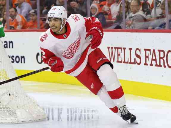 Andreas Athanasiou of the Detroit Red Wings