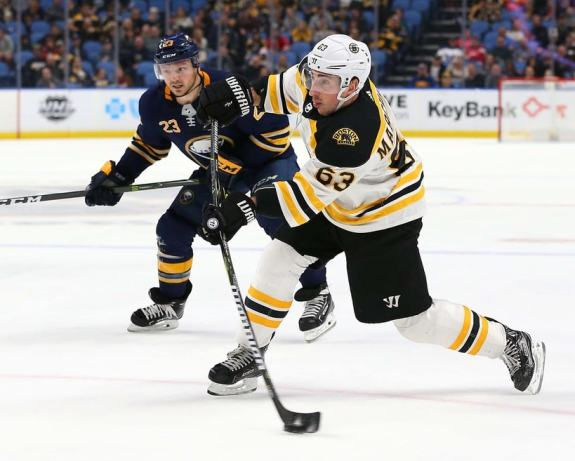 Bruins left wing Brad Marchand