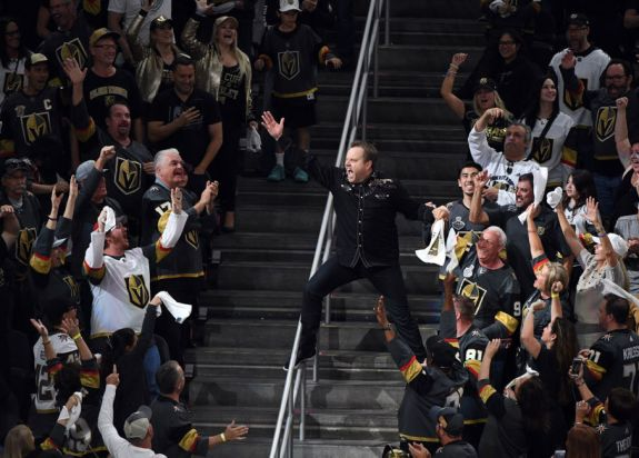Vegas Golden Knights crowd igniter Cameron Hughes