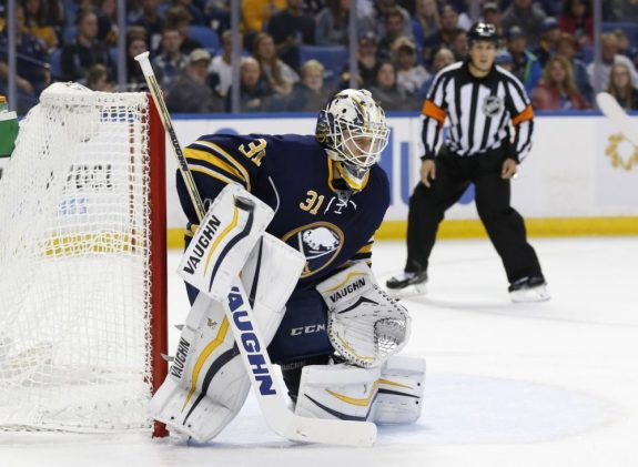 Buffalo Sabres goalie Chad Johnson