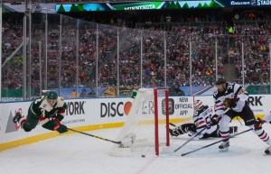 Charlie Coyle is the Wild's leading goal scorer with 21 on the year. (Brace Hemmelgarn-USA TODAY Sports)