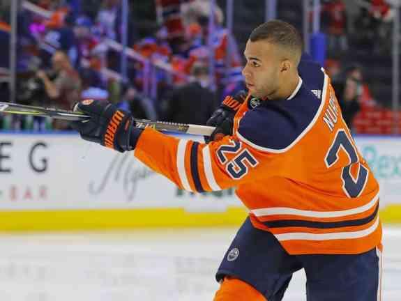 Edmonton Oilers defensemen Darnell Nurse