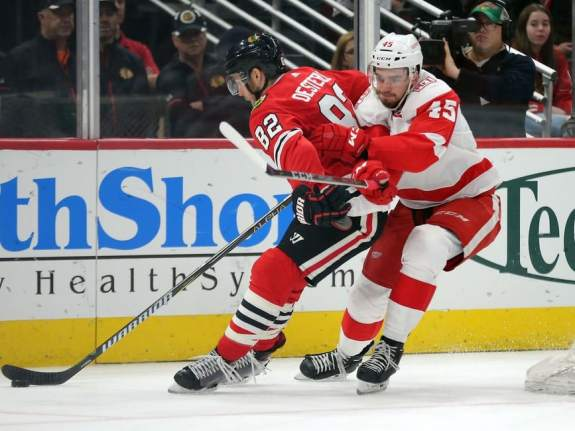 Red Wings center Dominic Turgeon