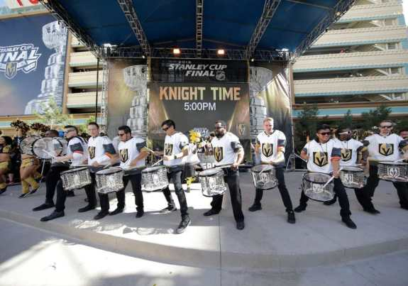Golden Knights pregame fun.