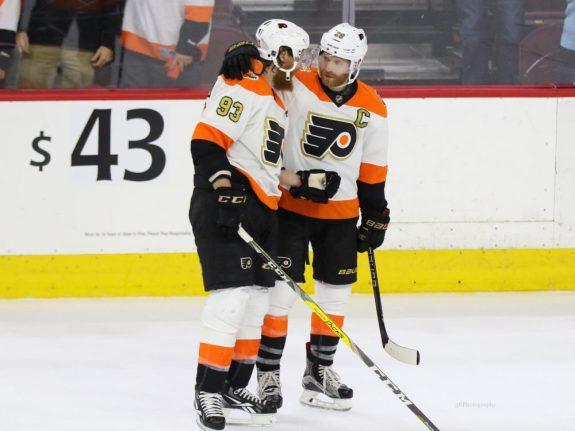 Claude Giroux, Jakub Voracek, NHL, Philadelphia Flyers, Hockey