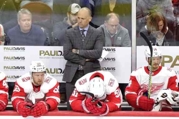 Jeff Blashill Red Wings bench