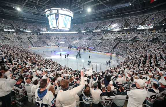 Winnipeg Jets Fans White Out