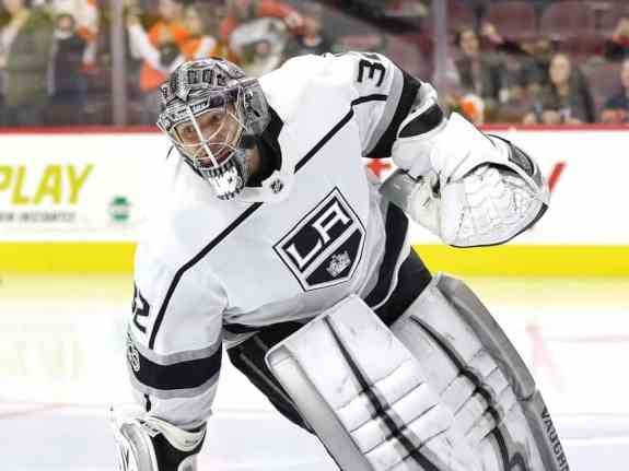 Jonathan Quick stood on his head on Monday night.