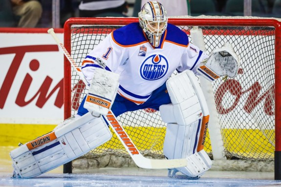 Oilers goalie Laurent Brossoit