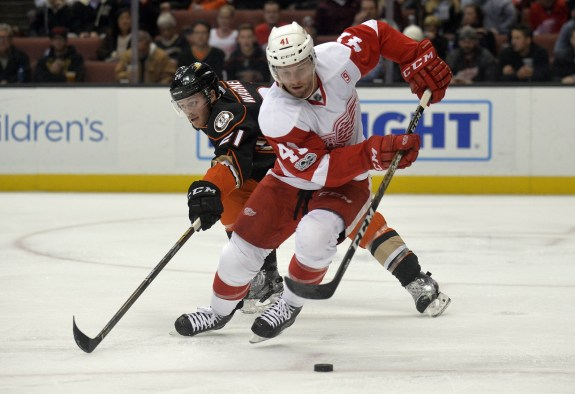 Luke Glendening of the Detroit Red Wings.