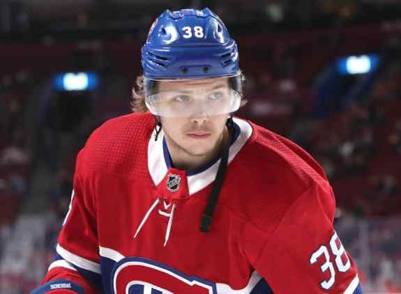 Montreal Canadiens right wing Nikita Scherbak
