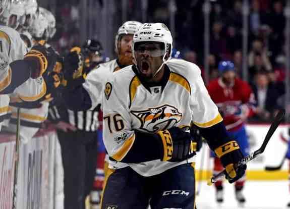 Ex-Montreal Canadiens defenseman P.K. Subban