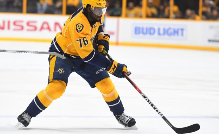Subban Finding his Step in Nashville