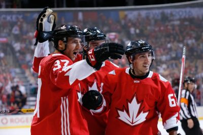 (Kevin Sousa-USA TODAY Sports) Brad Marchand has emerged as a key player for Canada thanks to his chemistry with Patrice Bergeron and Sidney Crosby. Credit Mike Babcock for putting that line together and maximizing their opportunities.