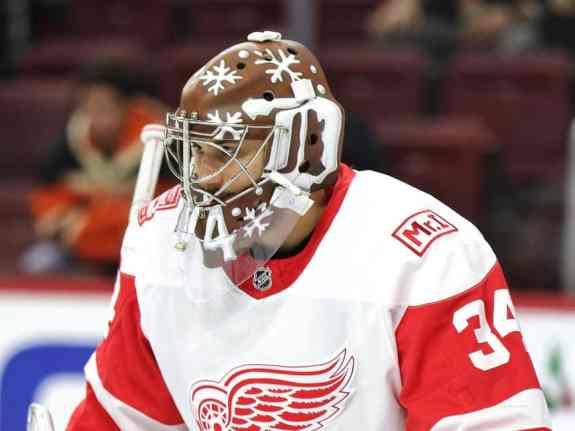 Goaltender Petr Mrazek of the Red Wings