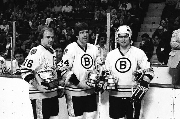Rick Middleton Terry O'Reilly Ray Bourque Bruins 1980