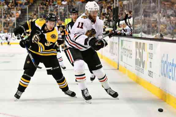 Ryan Fitzgerald Cody Franson Bruins Blackhawks