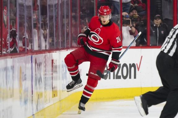 Hurricanes forward Sebastian Aho